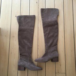 Via Spiga Ophira over the knee suede boot taupe